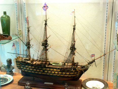 A change from shells - HMS Victory model.