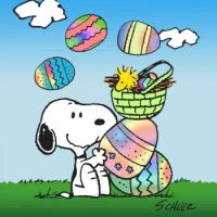 SNOOPY AND WOODSTOCK-EASTER