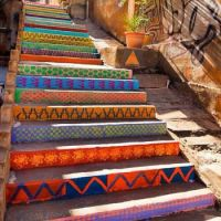 Patterned stairs by Dihzahyners