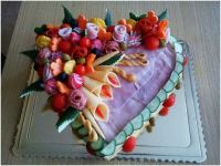 heart salty cake