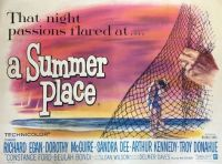 A SUMMER PLACE - 1959 MOVIE POSTER DOROTHY McGUIRE, RICHARD EGAN, SANDRA DEE, TROY DONAHUE
