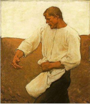 Albin Egger-Lienz  (1868–1926) -Le semeur _1908- CP