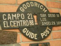 Goodrich Guide Post Southern CA  Road Sign