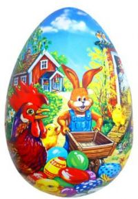 Painted Farm Easter Egg