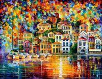 Dream Harbor by Leonid Afremov (Difficult)