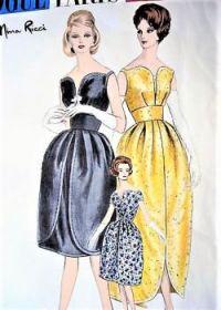 Vogue Paris Original 1950's Cocktail Dress Pattern