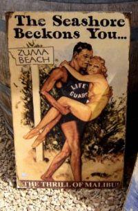 vintage poster from Zuma Beach, CA