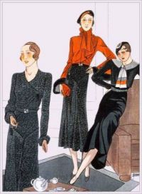 Créations by Maggy Rouff and Jenny, 1933. French art deco…