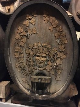 Hand Carved Wine Cask