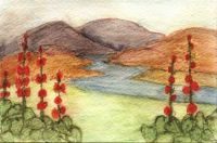 Watercolor Postcard by Caza To Ma