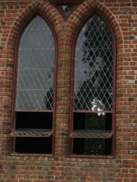 Church windows at Jamestown.