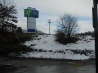Our First Day at the Motel in Grants Pass - Snow!