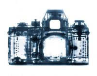 An x-ray image of a camera
