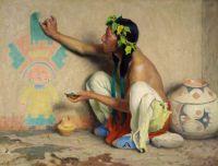 Eanger Irving Couse Kachina painter, 1917
