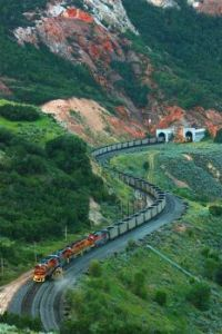 Utal Railway Coal Train at the Thistle Tunnels by jake Mille