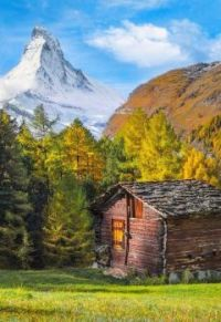 Old Cabin by the Matterhorn...