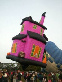 Wacky hot air balloon...