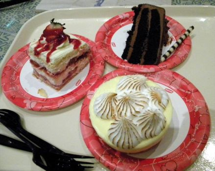 Strawberry Shortcake,Chocolate Mousse Cake and Key Lime Pie