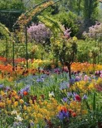 Claude Monet's garden at his estate in Giverny, France