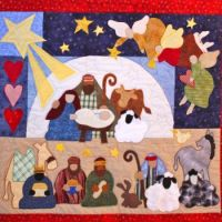 Grandma's Nativity Quilt