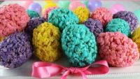 Easter Egg Rice Krispie Treats, recipe link included