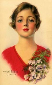 Themes Vintage illustrations/pictures - Young girl