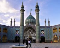 The Courtyard Of The Holy Shrine Of Imamzadeh Helal