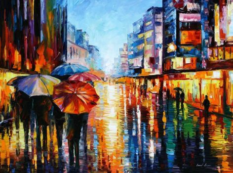 Umbrellas in Oils
