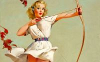 Gil Elvgren Bow and Arrow Vintage Pin-Up