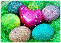 Easter Egg Nest with Dipped Eggs and a Foil Choco Chick