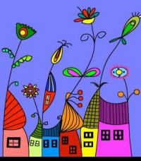 Huisjes in Bloemendaal.