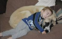 Owen with Haatchi, best dog ever!