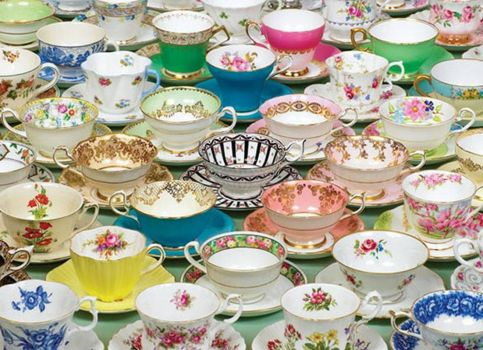 Beautiful vintage teacups