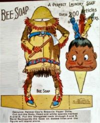 Vintage Bee Soap Ad  ~  Brownie,  Palmer Cox