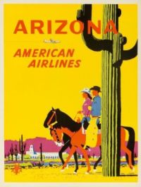 ARIZONA - AMERICAN AIRLINES TRAVEL POSTER