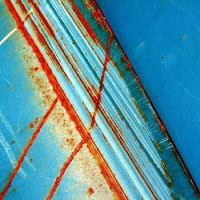 Turquoise, Blue and Rust