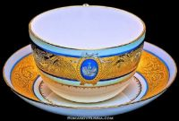 Russian Tea Cup & Saucer .....The Tea Cup is Rarer than the Coffee Cup