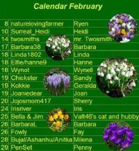 February Birthday/Anniversary Calendar - large print