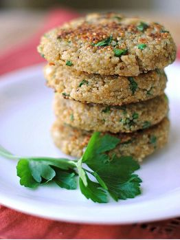 Herbed quinoa patties