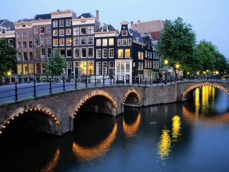 Amsterdam, Capital of the Netherlands.