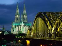 Cologne Cathedral and Hohenzollern Bridge from Germany.