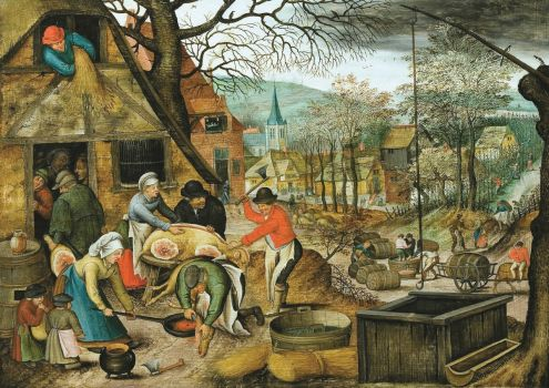 Pieter Brueghel the Younger--The Four Seasons, Autumn