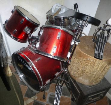 Drum Kit in the store room.