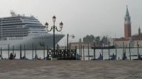 MSC Magnifica overpowering Venice.