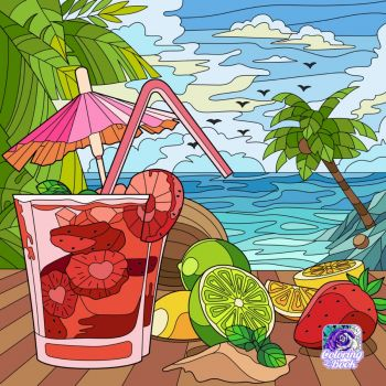Fruity Drinks and the Ocean