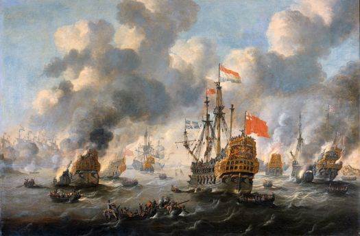 -The-Dutch-burn-down-the-English-fleet-before-Chatham-June-20-1667-Peter-van-de-