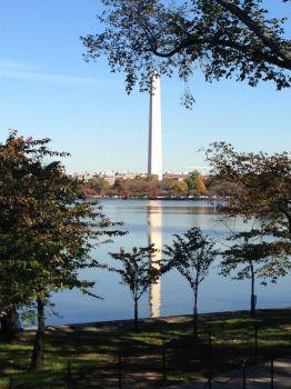 Washington Monument, with reflection
