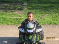 Suga Bear on his new 4 wheeler