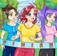 "Bold & Bright Colors Series  - ""Three at the finish line"""