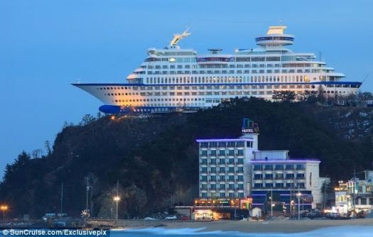 Sun Cruise 'ship' Hotel in South Korea...